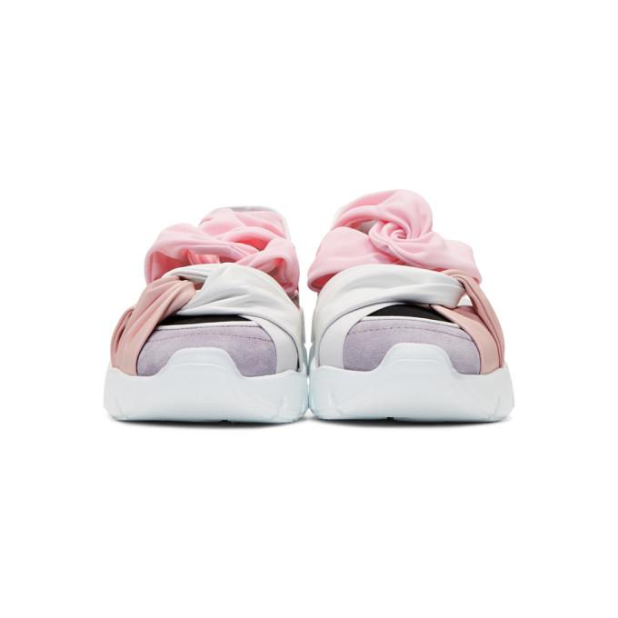 Balenciaga SSENSE Exclusive Purple & Red City Ballerina Sneakers