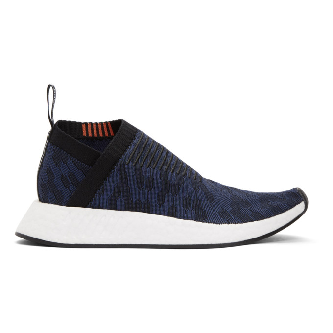 ADIDAS ORIGINALS BLACK AND INDIGO NMD-CS2 PK SNEAKERS