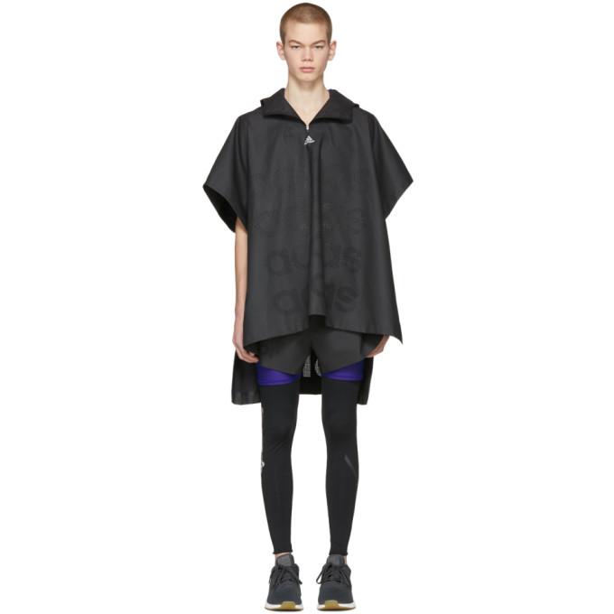 ADIDAS BY KOLOR Adidas X Kolor Black Coated Anorak Coat