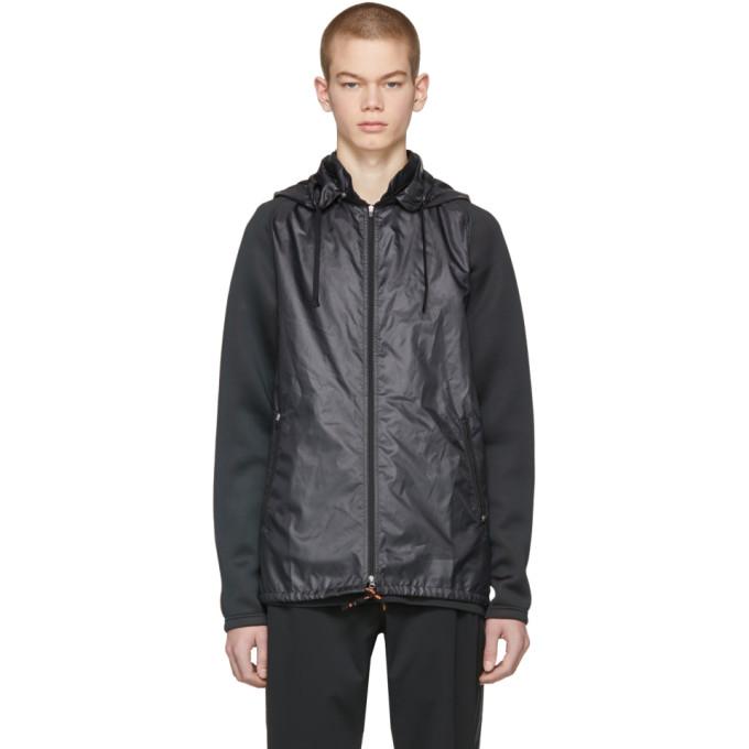 ADIDAS BY KOLOR Black Fabric Mix Jacket