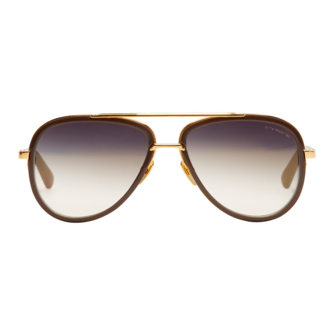 4abad72740d DITA. Dita Grey And Gold Mach Two Stone Sunglasses ...