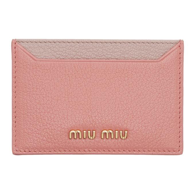 Miu Miu Madras colourblock card holder