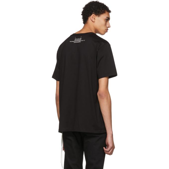 Black Graphic T-Shirt TAKAHIROMIYASHITA TheSoloist.