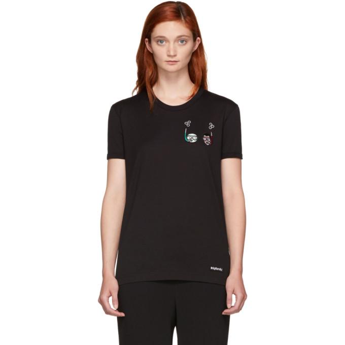 Dolce And Gabbana Black Scuba Dgfamily T-Shirt in N0000 Black