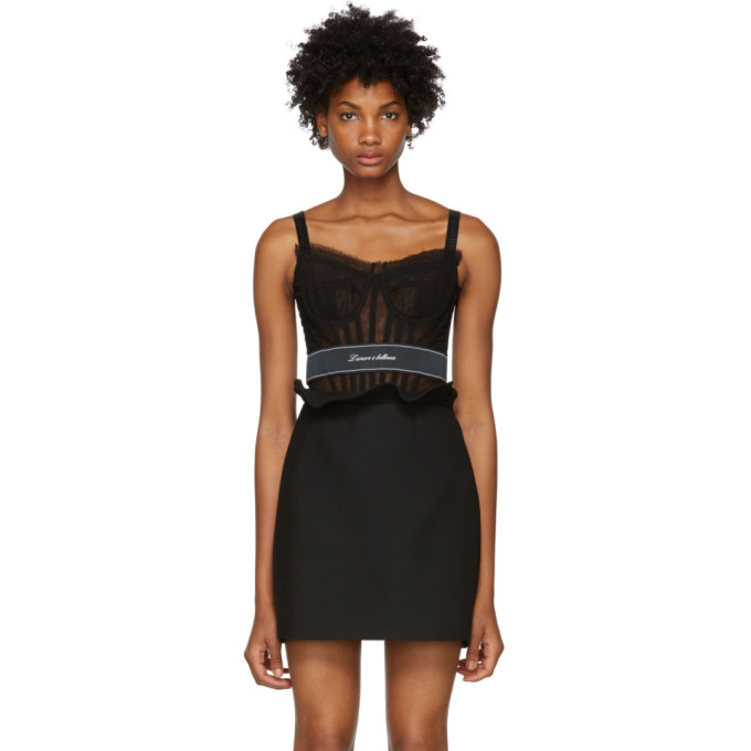 DOLCE AND GABBANA BLACK TULLE BUSTIER