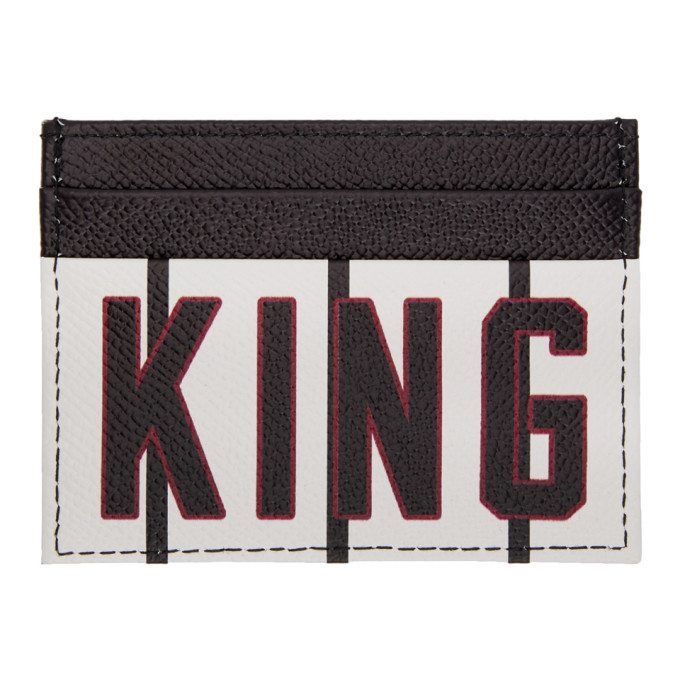 DOLCE AND GABBANA BLACK AND WHITE KING CARD HOLDER