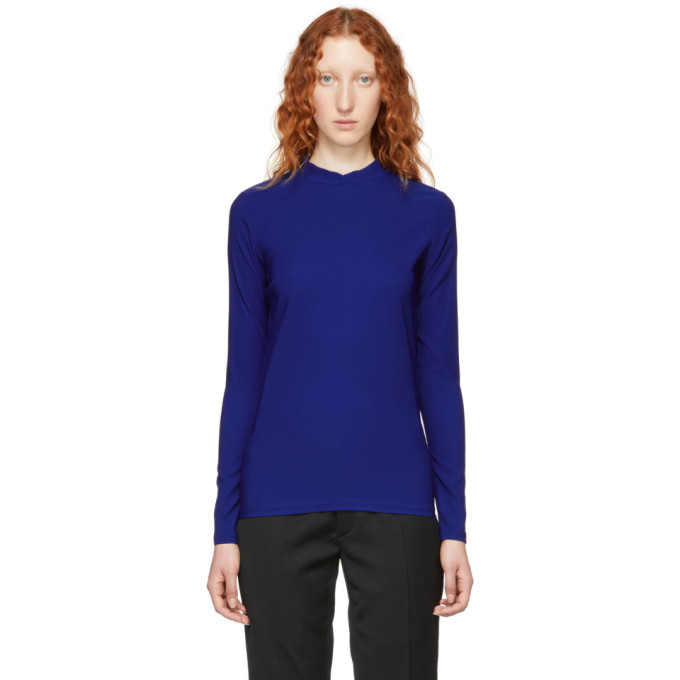 NAMACHEKO BLUE DOUBLE FACED MOCK NECK SWEATER