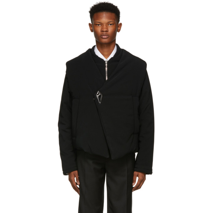 NAMACHEKO BLACK ASYMMETRIC BARBARA JACKET