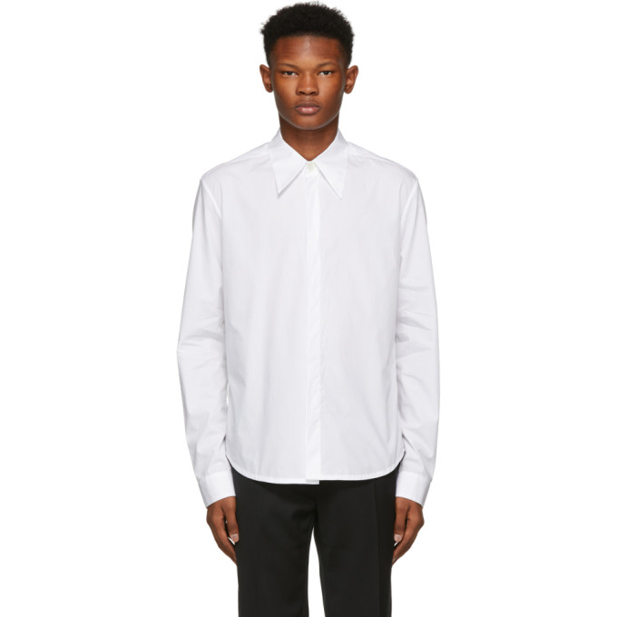 NAMACHEKO WHITE HIGHFIELD DETAIL SHIRT