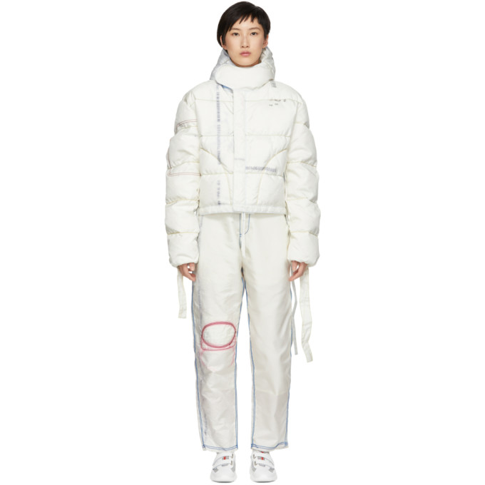 KANGHYUK Kanghyuk Off-White Cropped Down Parka in Off White