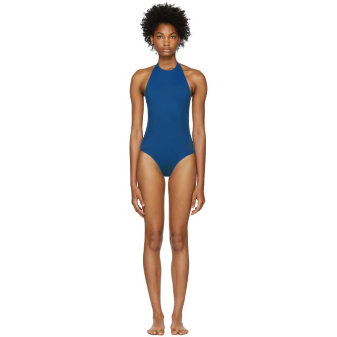 HER LINE Her Line Blue Jean One-Piece Swimsuit in True Blue