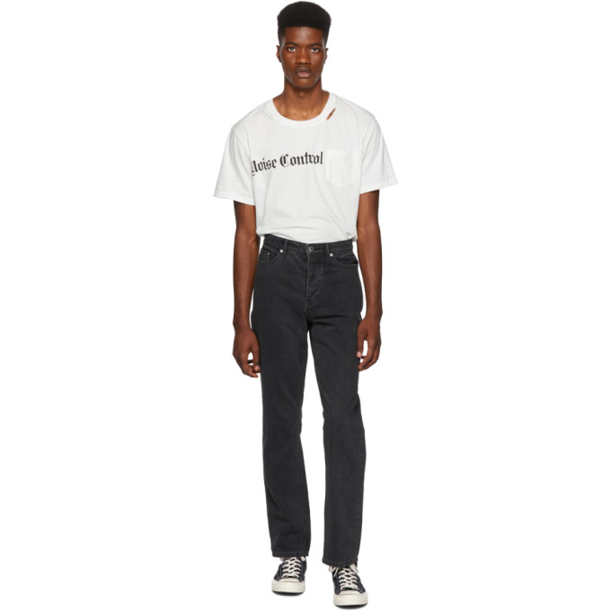 STOLEN GIRLFRIENDS CLUB BLACK CROPPED STOVE PIPE JEANS