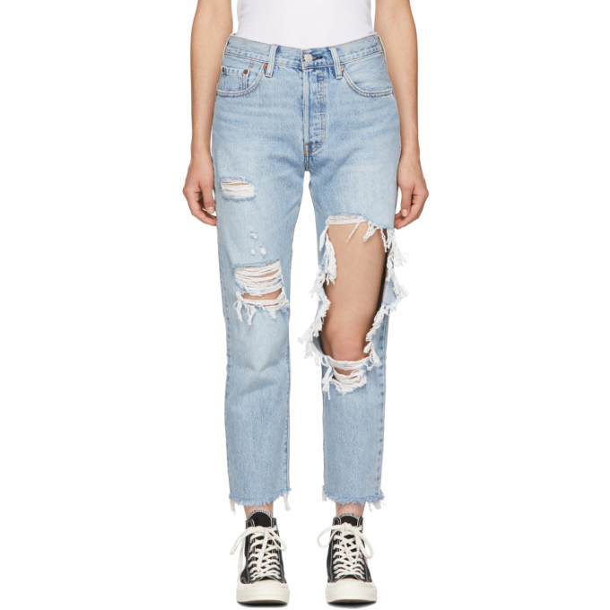 501 Crop Straight Jeans In Bona Fide