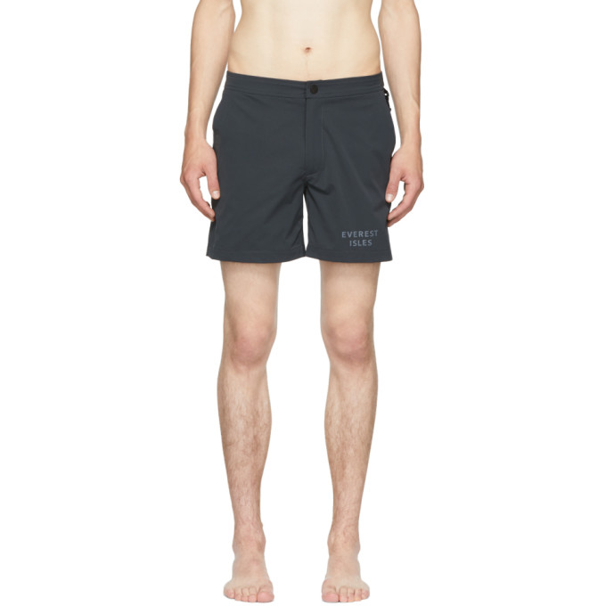 EVEREST ISLES GREY DIVER 01 SWIM SHORTS