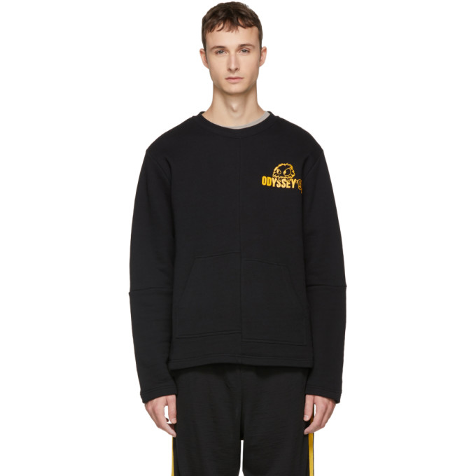 MCQ BY ALEXANDER MCQUEEN Black & Yellow 'Rave Monster' Kimono Sweatshirt