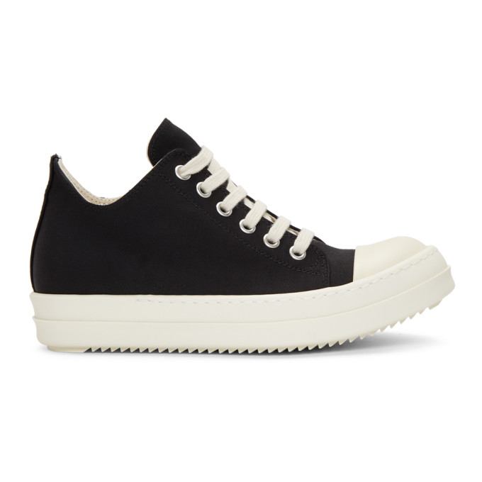 RICK OWENS DRKSHDW BLACK AND WHITE LOW SNEAKERS
