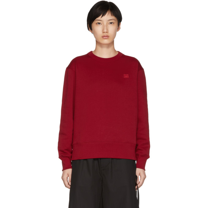 ACNE STUDIOS Red Fairview Face Sweatshirt