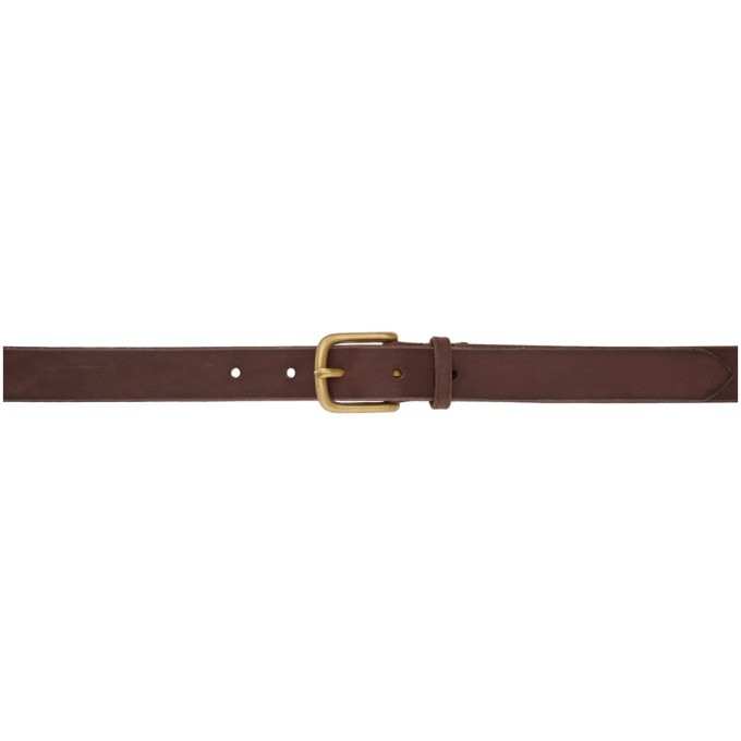 MAXIMUM HENRY BROWN AND GOLD SLIM STANDARD BELT