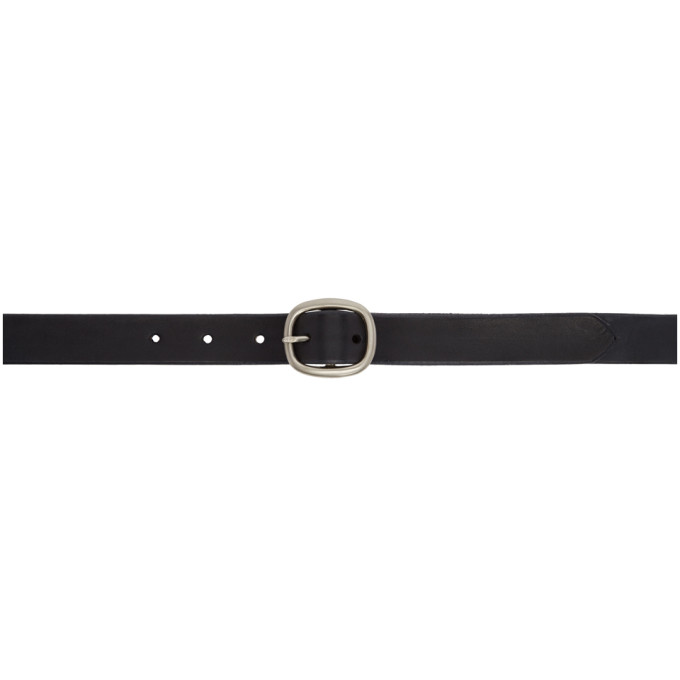 MAXIMUM HENRY BLACK AND SILVER OVAL SLIM BELT