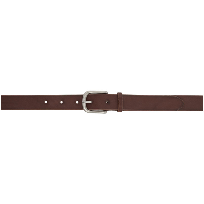 MAXIMUM HENRY BROWN AND SILVER SLIM STANDARD BELT