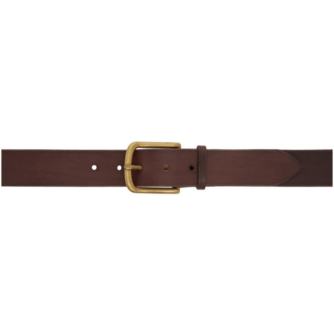 MAXIMUM HENRY BROWN AND GOLD STANDARD VERY WIDE BELT