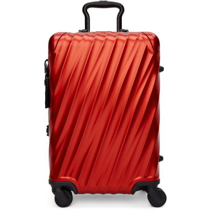 Red Aluminium International Carry-On Suitcase
