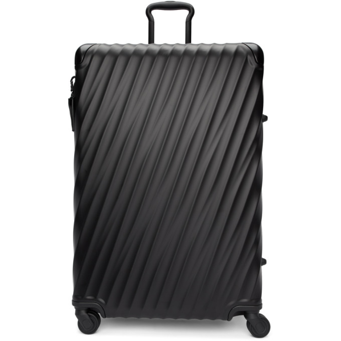 TUMI BLACK ALUMINUM EXTENDED TRIP PACKING SUITCASE