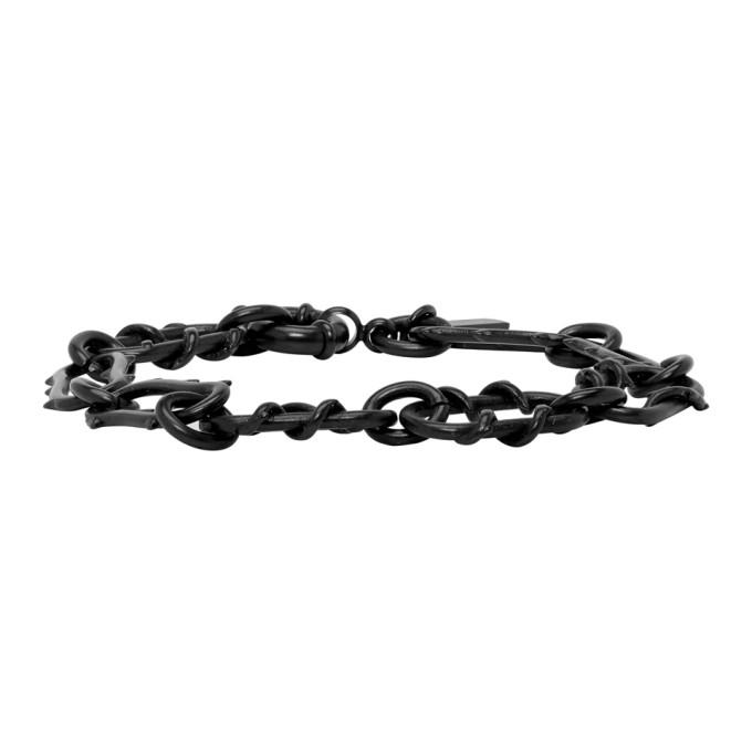 Gunmetal Roses Chain Bracelet by Dsquared2