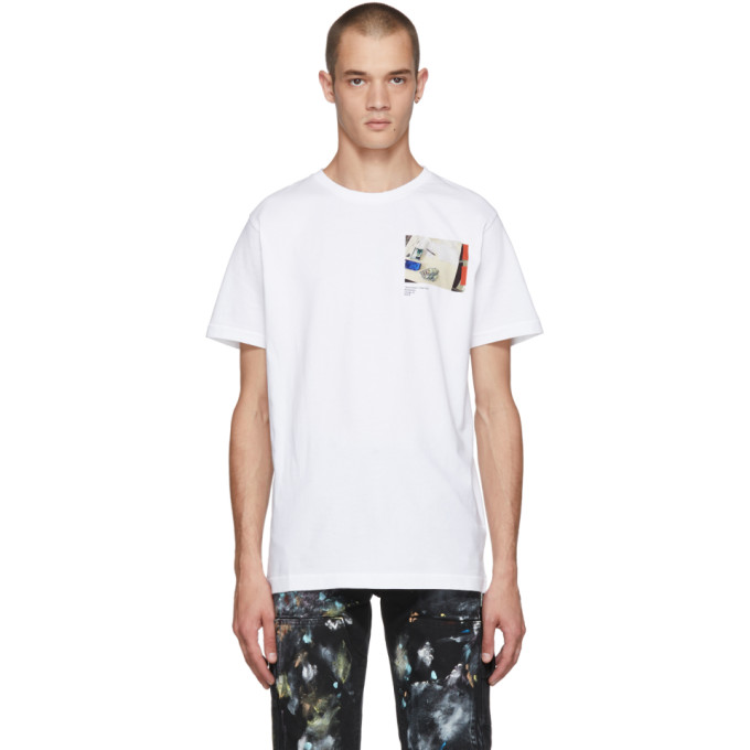 VIRGIL ABLOH C/O SSENSE Virgil Abloh C/O Ssense Ssense Exclusive White Cutting Room Floor Virgil Work Surface T-Shirt in White/Multi