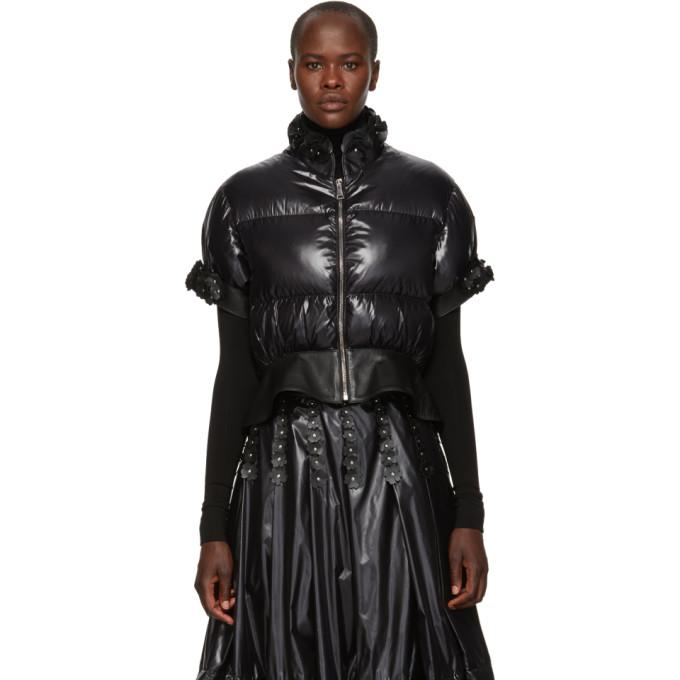 MONCLER GENIUS 6 Moncler Noir Kei Ninomiya Onyx Embellished Down Jacket in 999 Black
