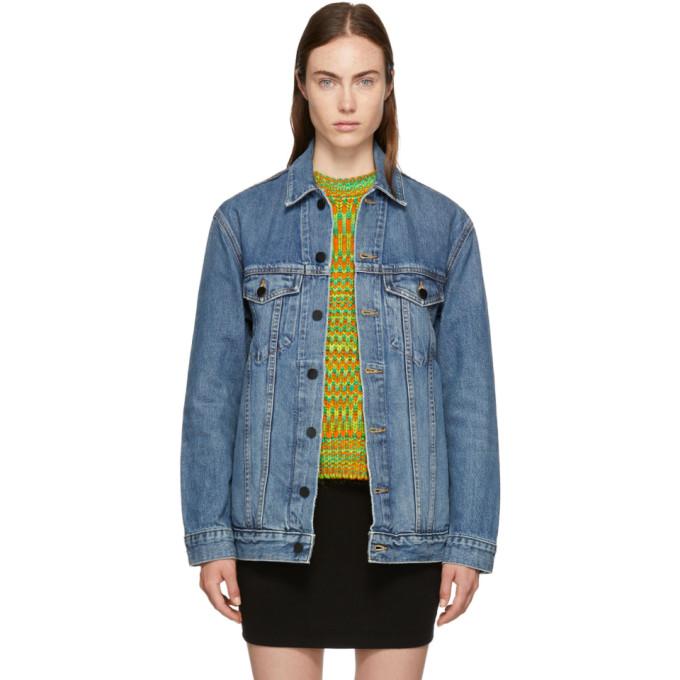 ALEXANDER WANG Indigo Oversized Denim Daze Jacket