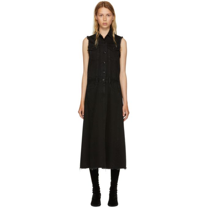 Archive Reconstructed Denim Dress in Black