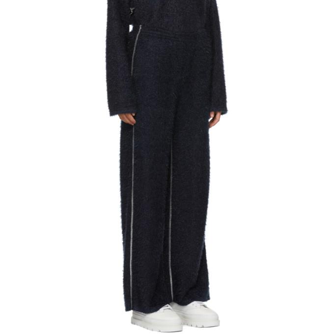 Blue Sparkling Knit Lounge Pants Maison Martin Margiela
