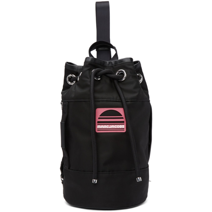 Marc Jacobs Black Convertible Sport Backpack, 001 Black