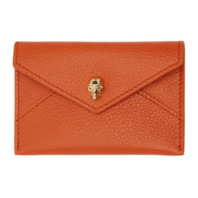 Orange Envelope Card Holder by Alexander Mcqueen