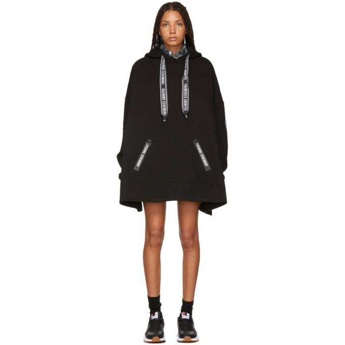 OPENING CEREMONY BLACK LOGO PONCHO DRESS