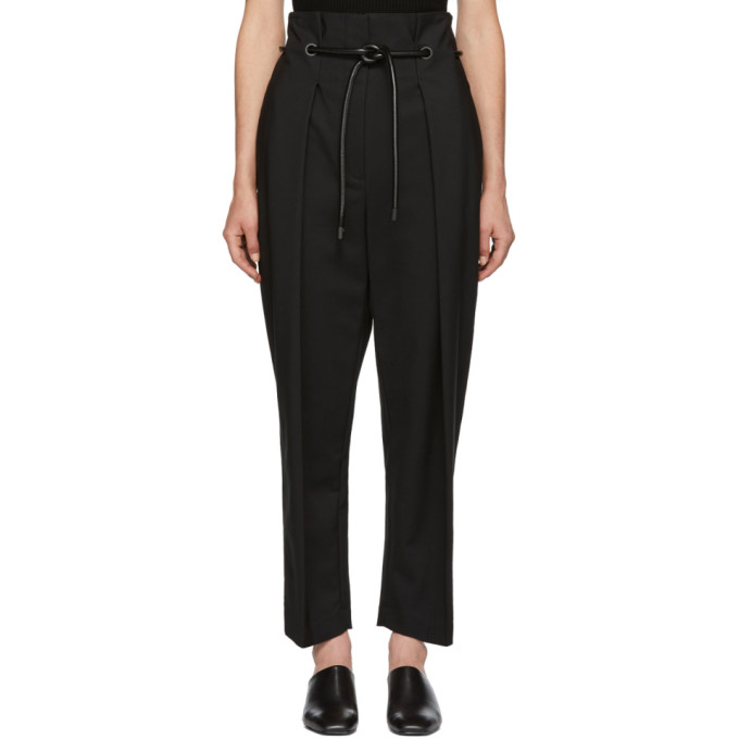 Black Origami Pleated Trousers from SSENSE