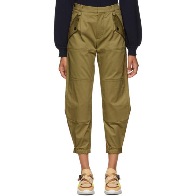 CHLOÉ Green Knee Pad Trousers