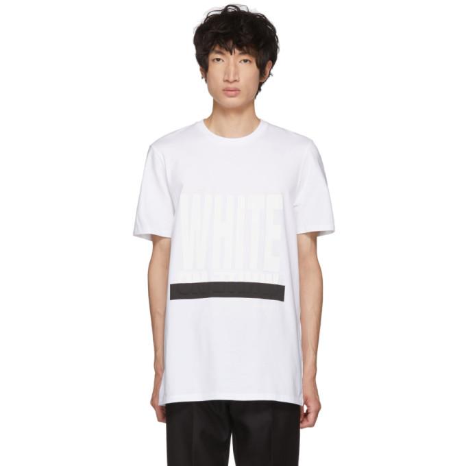 NEIL BARRETT White 'On White' Graphic T-Shirt