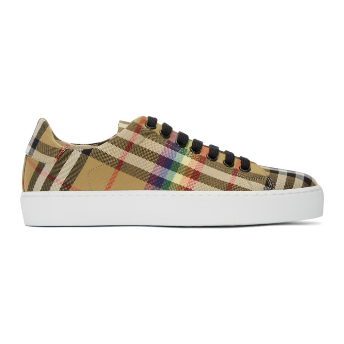 Women'S Westford Vintage Check Lace Up Sneakers, Yellow