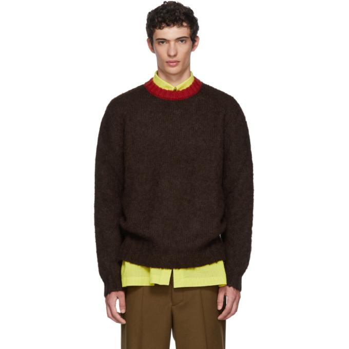 MARNI Burgundy Mohair Knit Sweater