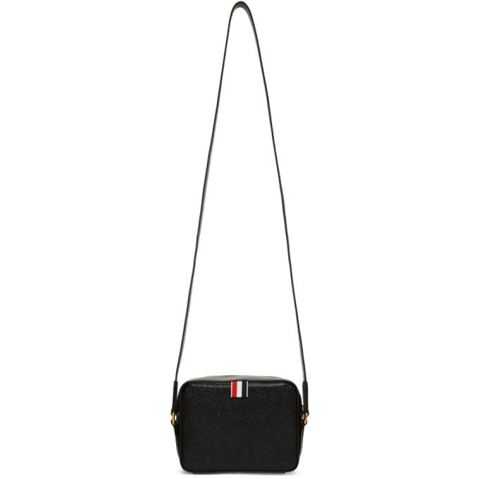 Thom Browne Black And Tricolor Mini Business Bag in 001 Black