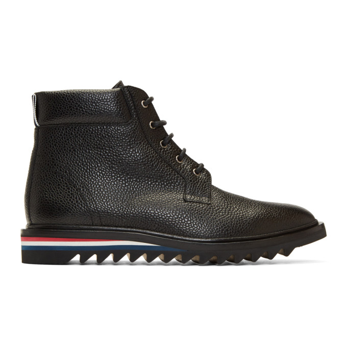 Thom Browne Cropped Blucher Lace-Up Boots