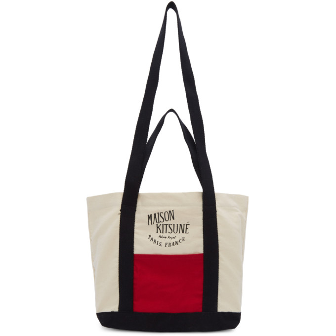 Multicolor Small Colorblock Shopping Tote by Maison KitsunÉ