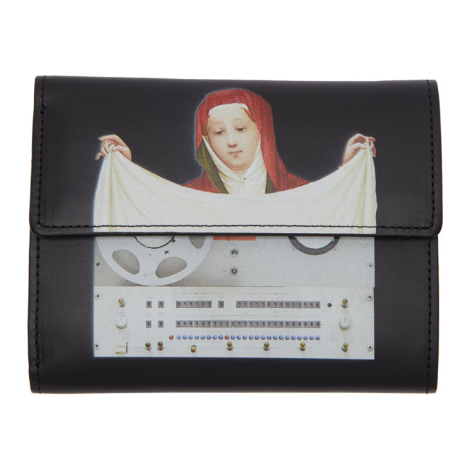 Undercover UNDERCOVER BLACK PAINTING WALLET