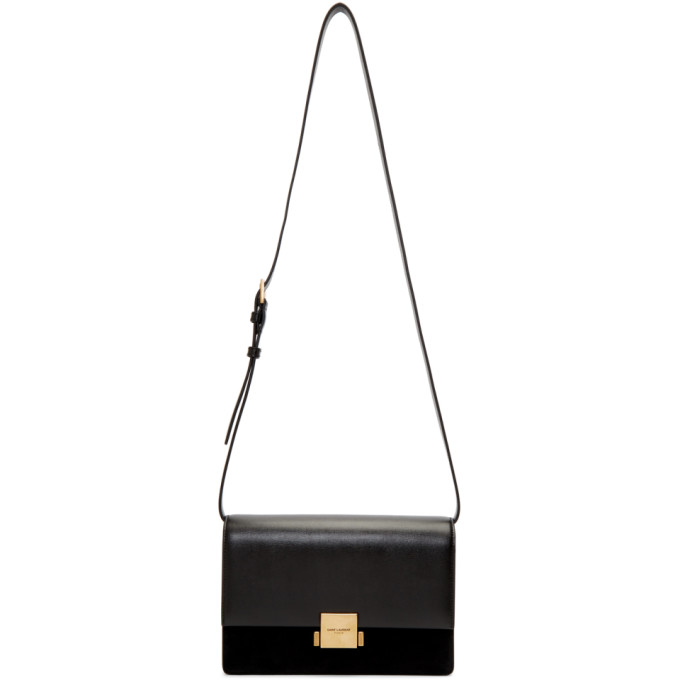 SAINT LAURENT BLACK MEDIUM BELLECHASSE SATCHEL
