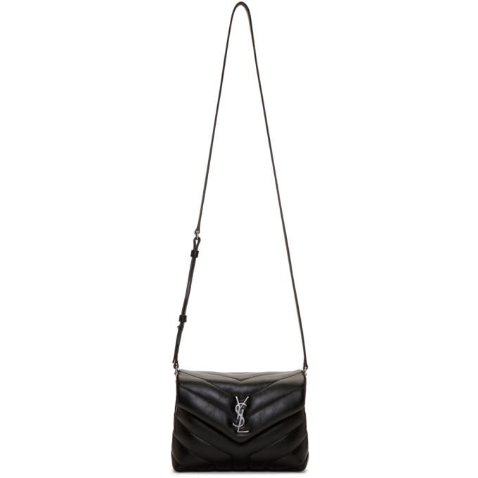 SAINT LAURENT Black Toy Loulou Strap Bag