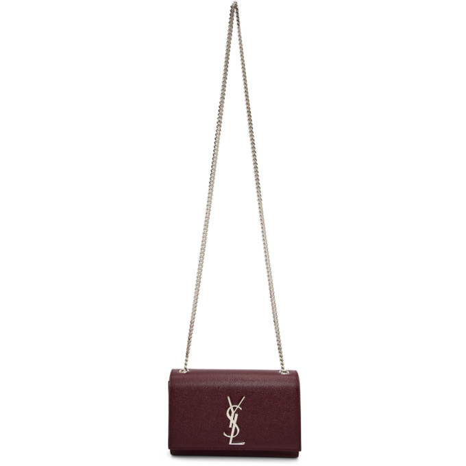 SAINT LAURENT Red Small Kate Chain Bag