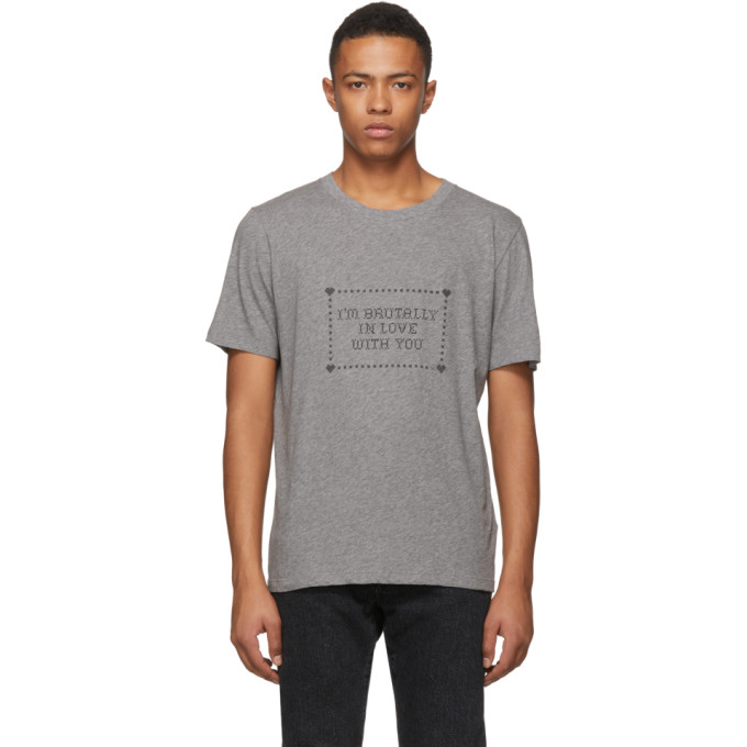 I'M Brutally In Love With You T-Shirt in Grey