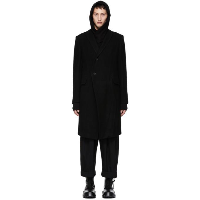 JULIUS Julius Classic Single Breasted Coat - Black